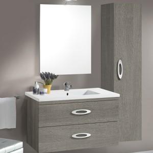 Mobile bagno sospeso con lavabo in ceramica mod. Piemonte