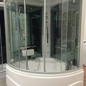 Cabina doccia Multifunzione con vasca indromassaggio due posti  mod. Virgilio
