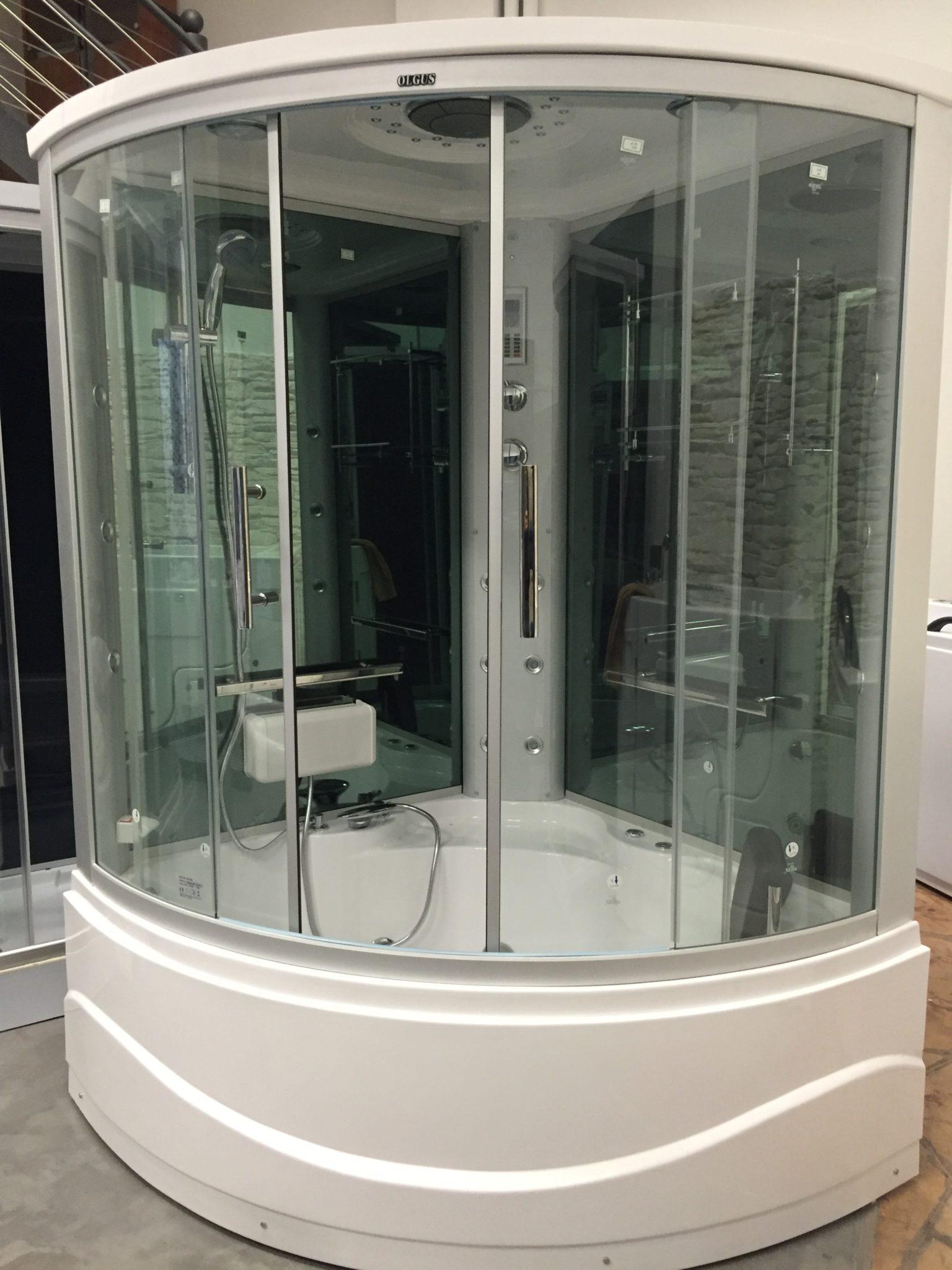 Cabina doccia con vasca idromassaggio due posti for Doccia solare da giardino leroy merlin