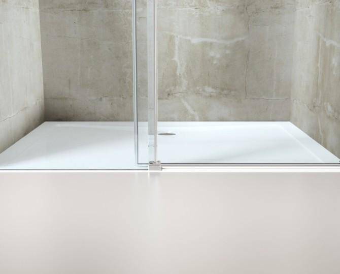 Box doccia rettangolare senza profili a due lati - Box doccia senza silicone ...