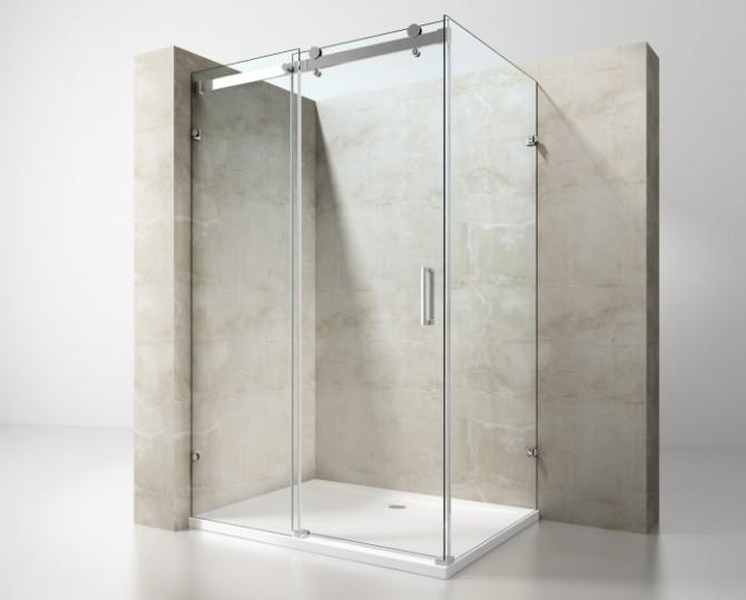 Box doccia rettangolare senza profili a due lati for Offerte box doccia