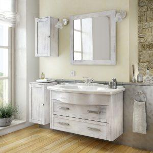 - Mobile bagno shabby con piano d\'appoggio e lavabo